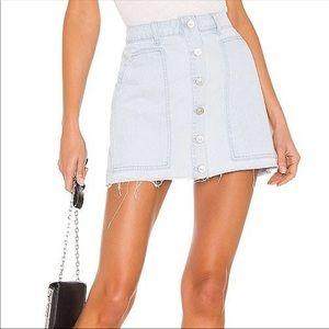 NWT! Kendall and Kylie Button Denim Skirt